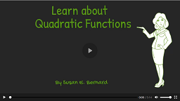 Video: Learn About Quadratic Functions